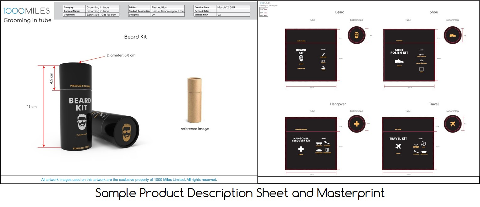 Product Data Sheet and Masterprint