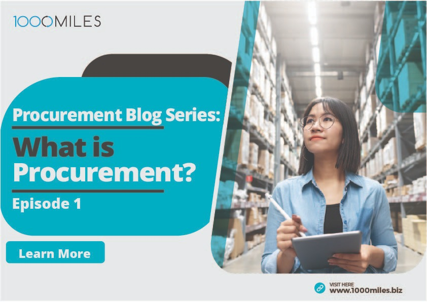 What is Procurement Blog Series Episode one
