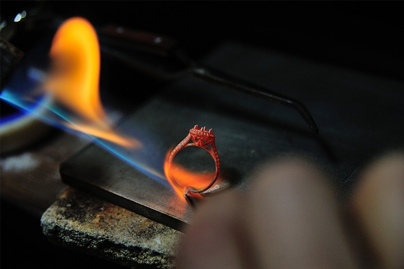 Process in creating jewelry ring